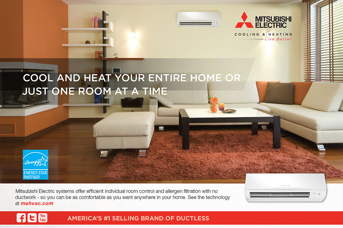 inc provided team products heating and a bedroom ductless services mitsubishi cooling